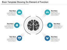 Brain Template Showing Six Element Of Function