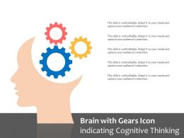 Brain With Gears Icon Indicating Cognitive Thinking