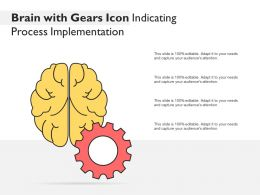 Brain With Gears Icon Indicating Process Implementation