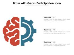 Brain With Gears Participation Icon