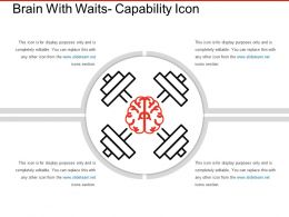 Brain With Waits Capability Icon Ppt Infographics
