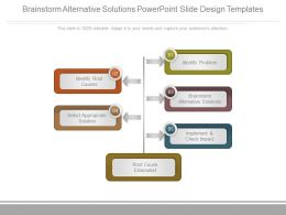 Brainstorm Alternative Solutions Powerpoint Slide Design Templates