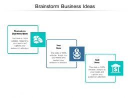 Brainstorm Business Ideas Ppt Powerpoint Presentation Professional Graphics Cpb