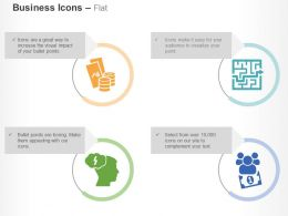 brainstorm_finding_solutions_crowdfunding_stacked_coins_ppt_icons_graphics_Slide01