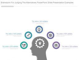 36919099 Style Variety 1 Gears 5 Piece Powerpoint Presentation Diagram Infographic Slide