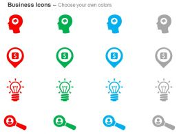 Brainstorm Local Business Idea Search Ppt Icons Graphics