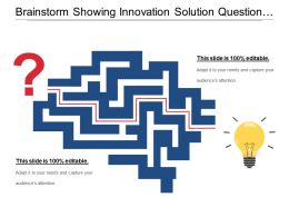 Brainstorm Showing Innovation Solution Question Mark And Bulb