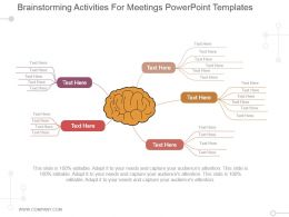 Brainstorming Activities For Meetings Powerpoint Templates