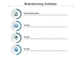 Brainstorming Activities Ppt Powerpoint Presentation Pictures Cpb