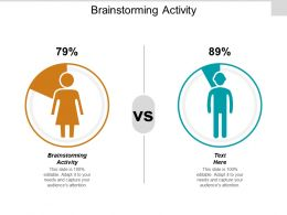 Brainstorming Activity Ppt Powerpoint Presentation Gallery Slides Cpb