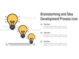 Brainstorming And Idea Development Process Icon