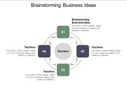 Brainstorming Business Ideas Ppt Powerpoint Presentation Ideas Show Cpb
