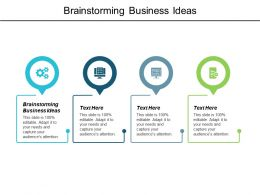 Brainstorming Business Ideas Ppt Powerpoint Presentation Infographics Background Images Cpb