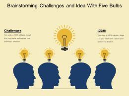 Brainstorming Challenges And Idea With Five Bulbs