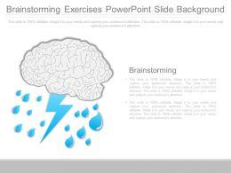 Brainstorming Exercises Powerpoint Slide Background
