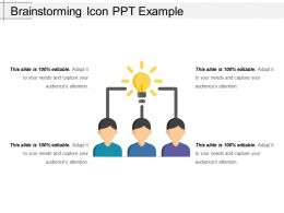 Brainstorming Icon Ppt Example