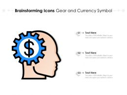 Brainstorming Icons Gear And Currency Symbol