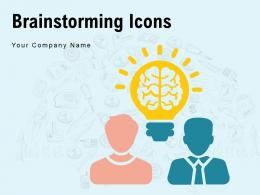 Brainstorming Icons Gear Currency Symbol Arrow Approved Employee