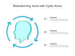 Brainstorming Icons With Cyclic Arrow