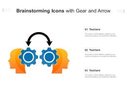Brainstorming Icons With Gear And Arrow