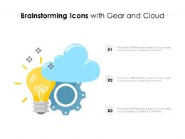 Brainstorming Icons With Gear And Cloud