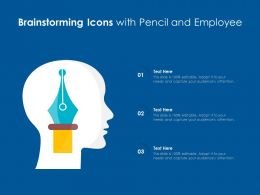 Brainstorming Icons With Pencil And Employee