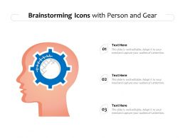 Brainstorming Icons With Person And Gear