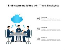Brainstorming Icons With Three Employees
