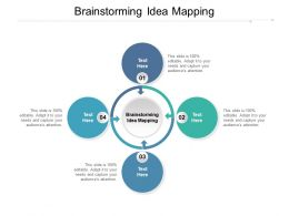 Brainstorming Idea Mapping Ppt Powerpoint Presentation Show Sample Cpb