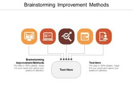 Brainstorming Improvement Methods Ppt Powerpoint Presentation Ideas Background Designs Cpb