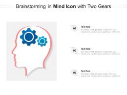 Brainstorming In Mind Icon With Two Gears