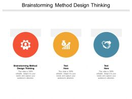 Brainstorming Method Design Thinking Ppt Powerpoint Presentation Slides Cpb