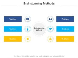 Brainstorming Methods Ppt Powerpoint Presentation Ideas Background Image Cpb