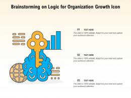 Brainstorming On Logic For Organization Growth Icon