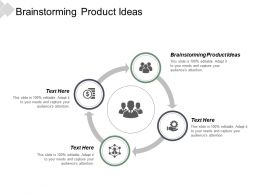 Brainstorming Product Ideas Ppt Powerpoint Presentation Pictures Files Cpb