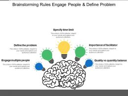 Brainstorming Rules Engage People And Define Problem