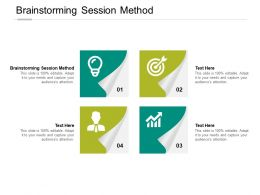 Brainstorming Session Method Ppt Powerpoint Presentation Slides Icons Cpb