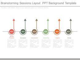 Brainstorming Sessions Layout Ppt Background Template