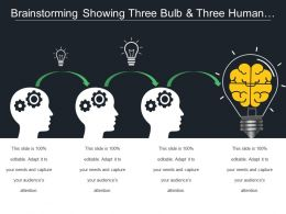 Brainstorming Showing Three Bulb And Three Human Face