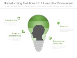 Brainstorming Solutions Ppt Examples Professional
