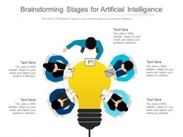 Brainstorming Stages For Artificial Intelligence Infographic Template