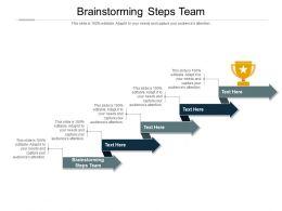 Brainstorming Steps Team Ppt Powerpoint Presentation Inspiration Elements Cpb