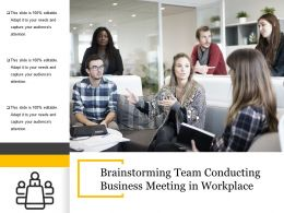 Brainstorming Team Conducting Business Meeting In Workplace