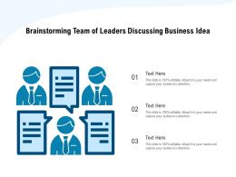 Brainstorming Team Of Leaders Discussing Business Idea