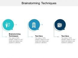 Brainstorming Techniques Ppt Powerpoint Presentation File Design Ideas Cpb