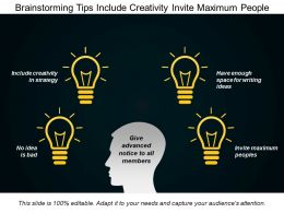 Brainstorming Tips Include Creativity Invite Maximum People