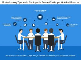 Brainstorming Tips Invite Participants Frame Challenge Kickstart Session