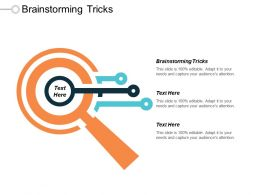 Brainstorming Tricks Ppt Powerpoint Presentation Infographic Template Graphic Images Cpb