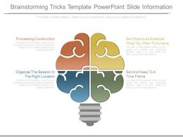 Brainstorming Tricks Template Powerpoint Slide Information