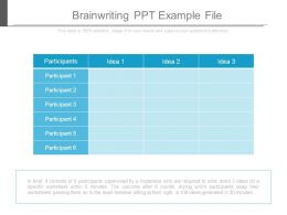 Brainwriting Ppt Example File
